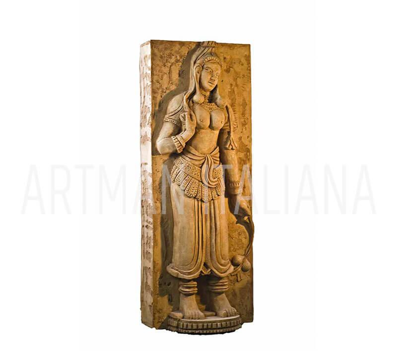 pilastro a tema khmer per interni e esterni - Artman Italiana